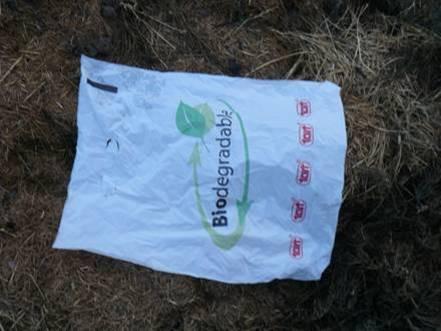 Sáček vložený na kompost