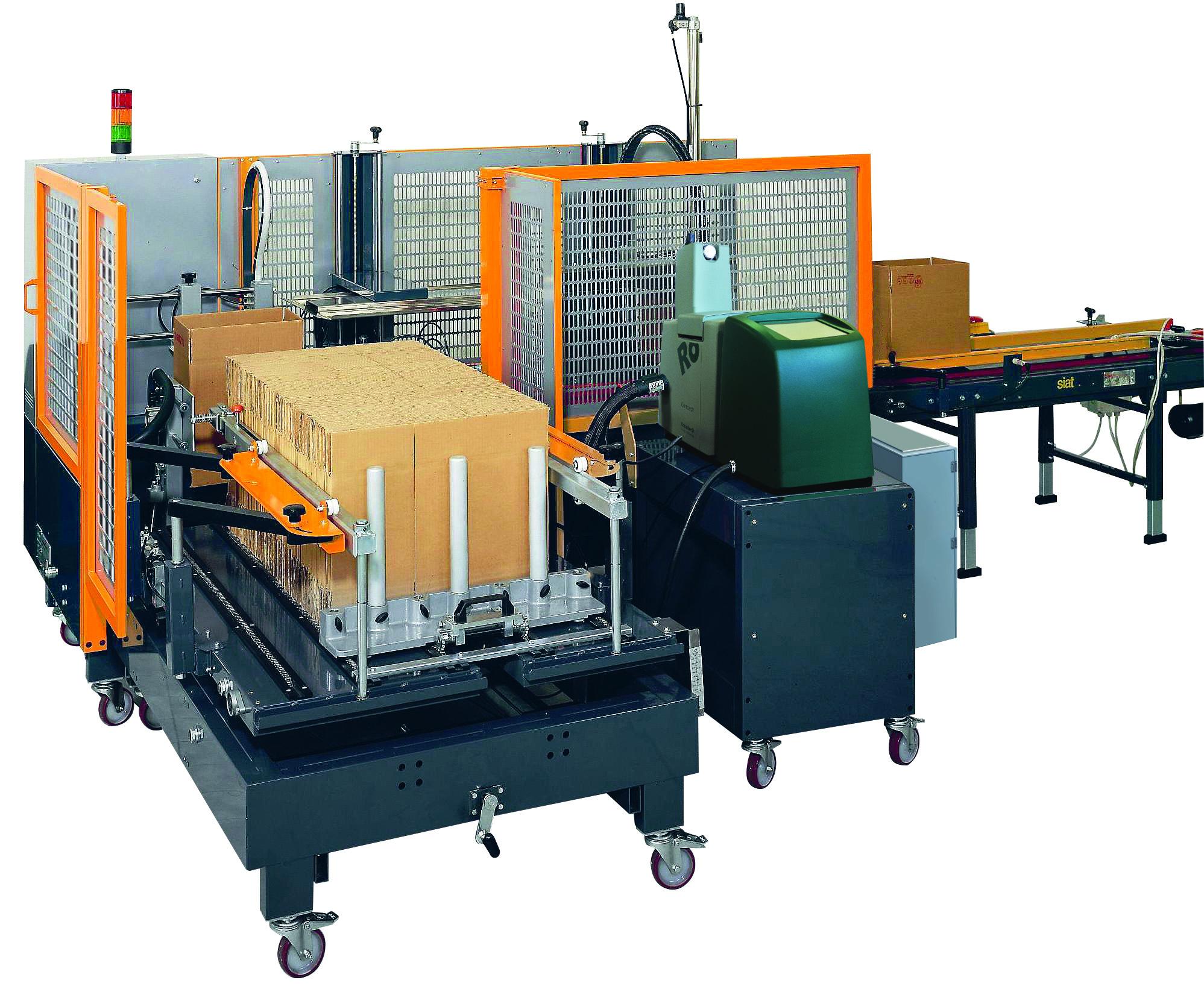 Stroje na skládání krabic